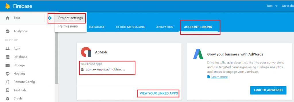 View Linked Apps
