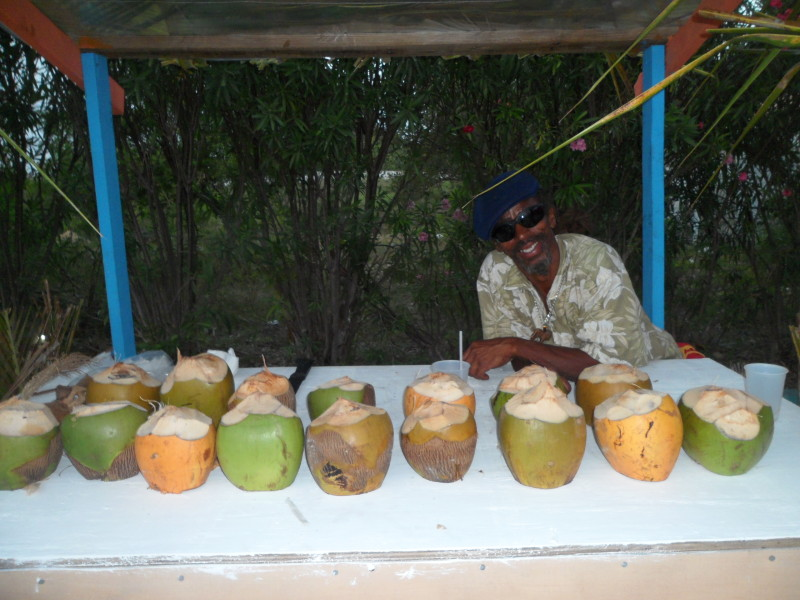Kenny the Coconut Man at 'Taste of Anguilla,' Tasty's Restaurant, Anguilla