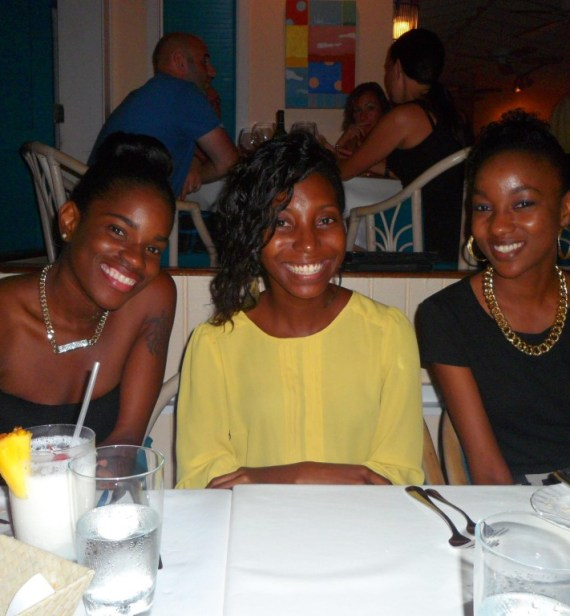 Jamie, Nashara and I at Blanchards Restaurant, Anguilla