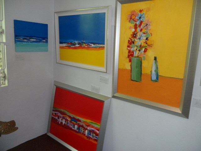 Colourful paintings at Savannah Art Gallery, Anguilla