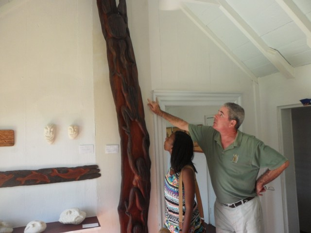 Owner Frank Costin at Savannah Art Gallery, Anguilla