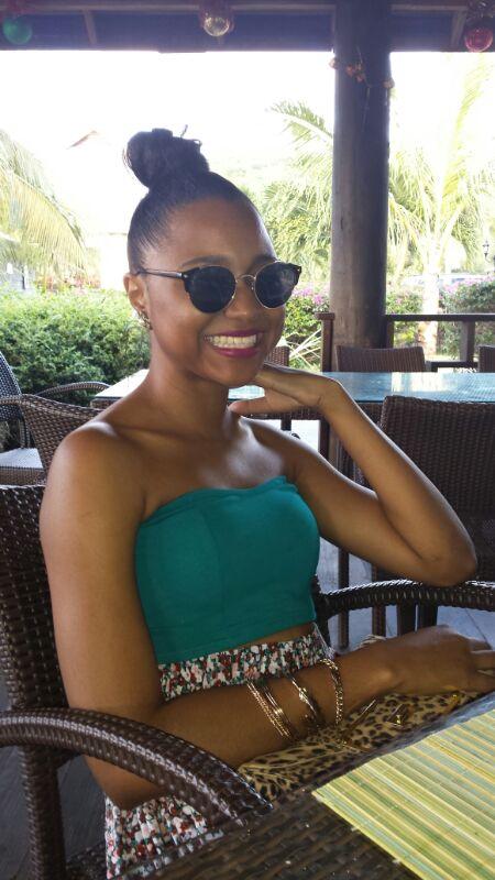 Sherise at davida's restaurant, Anguilla