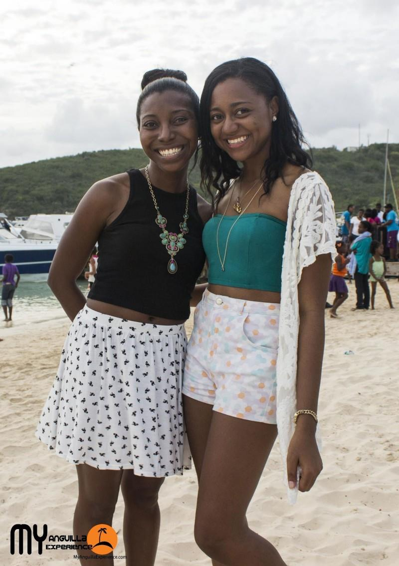 Sherise and Shelly at Anguilla Day boat race