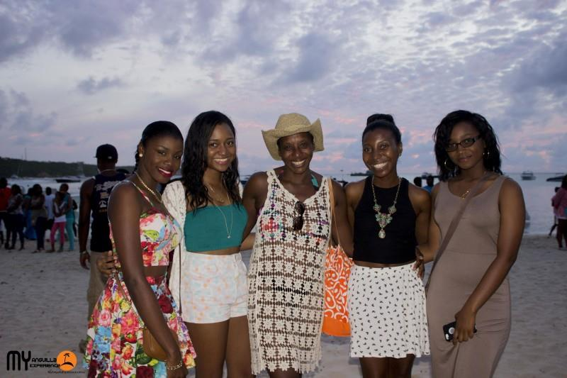 Family at Anguilla Day Boat race