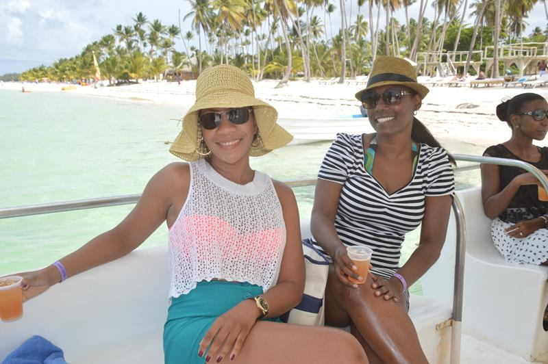 Sherma and Kara on the boat