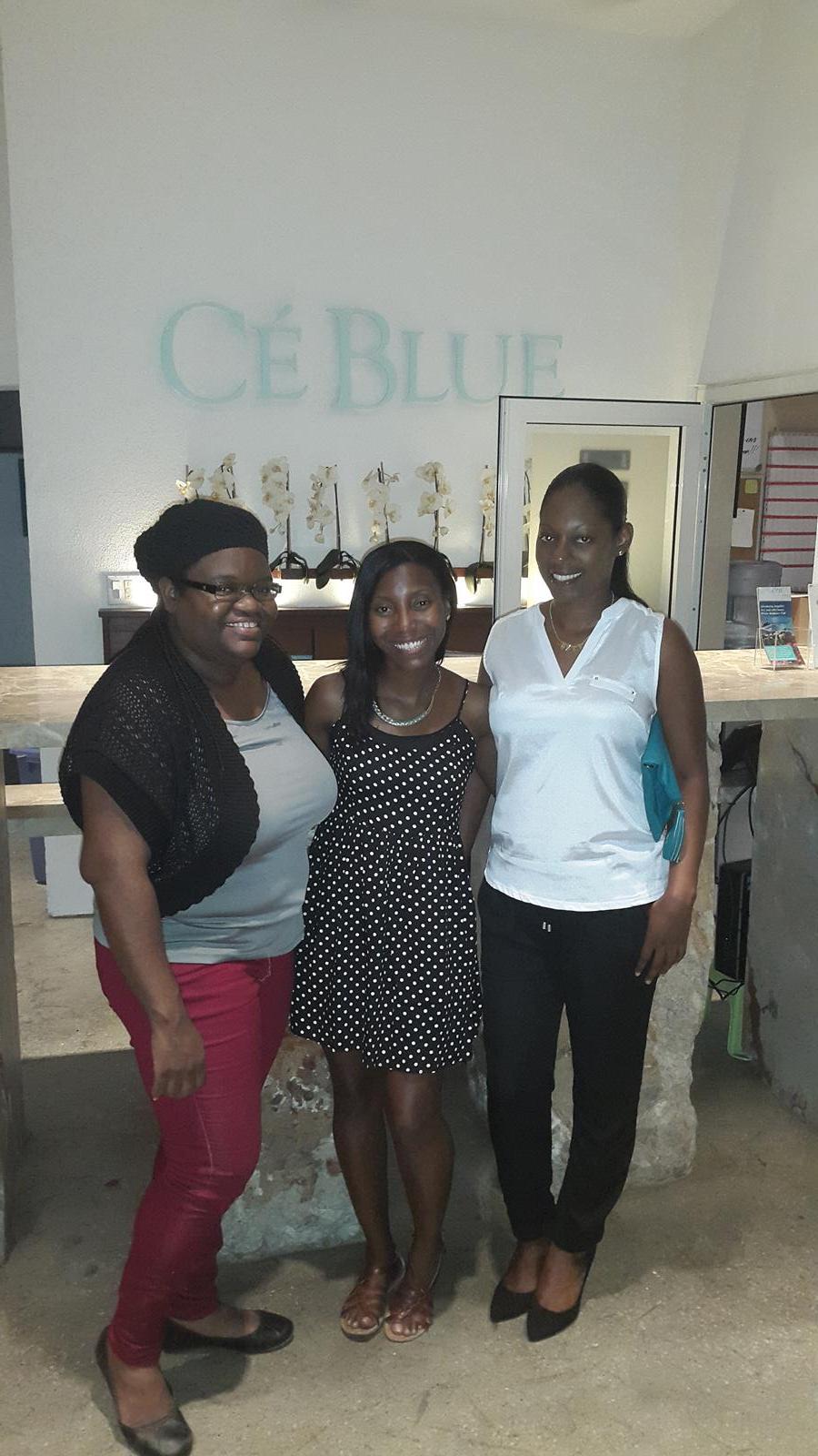 Sherma, Shauna and Shelly at CeBlue