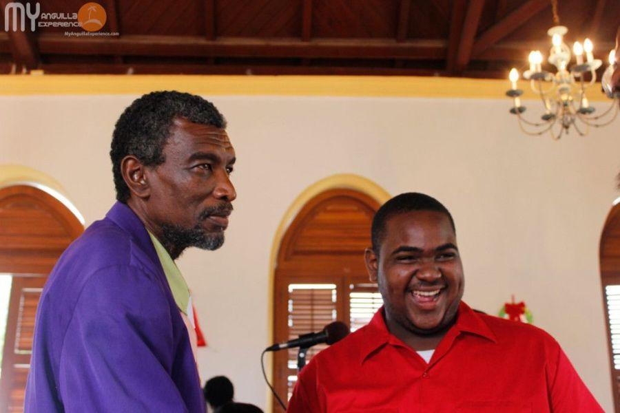 Smiling faces at church