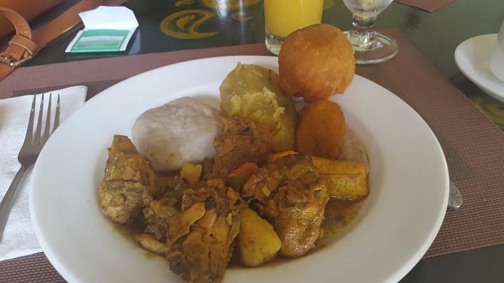 Breakfast at Altamont Court, Kingston, Jamaica