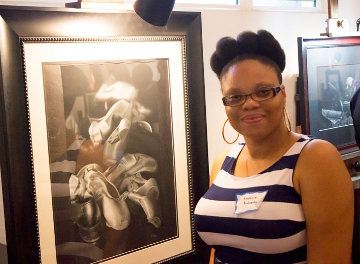 Shanicia Richardson at ANI Art Open house