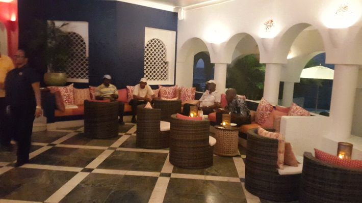 Taxi Drivers at Spice Restaurant at Cap Juluca