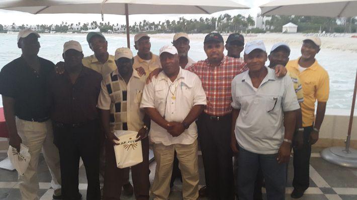 Taxi drivers at Menu Tasting at Cap Juluca