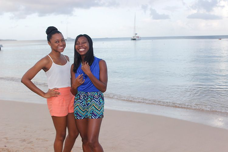 My sister and I at Crocus Bay, Anguilla