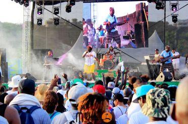 Asa Banton at August Monday Beach Party 2015