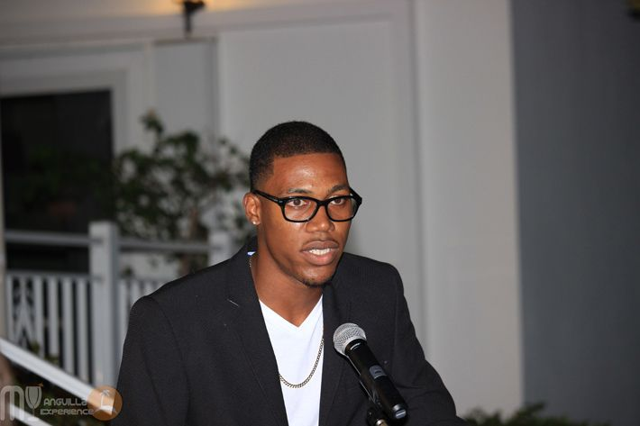 Zharnel Hughes in Anguilla