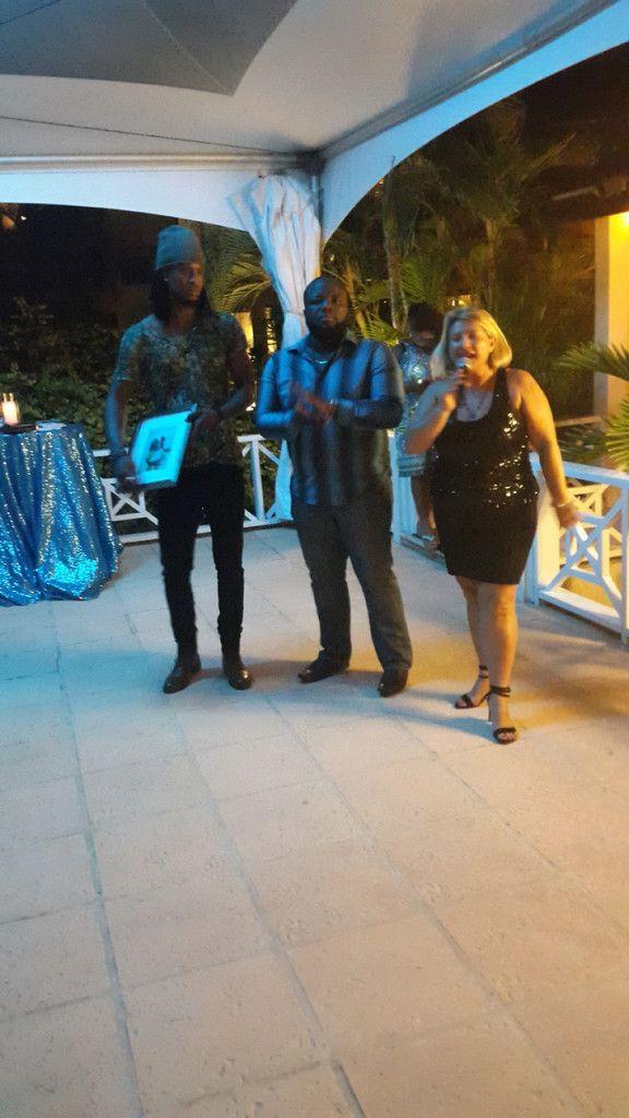 Editors Orrett and Trudy with Omari Banks