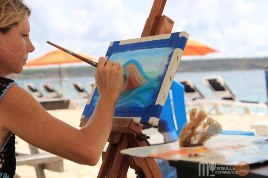 Painting at Livin in the Sun