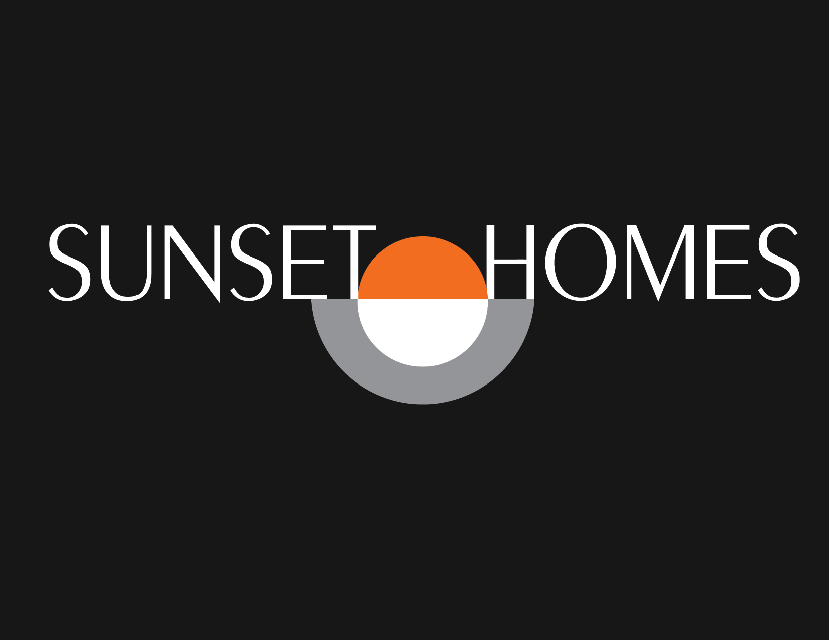 Sunset Homes logo black