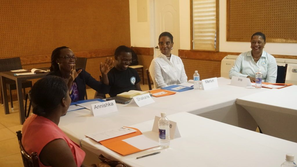 Participants at Blogging workshop
