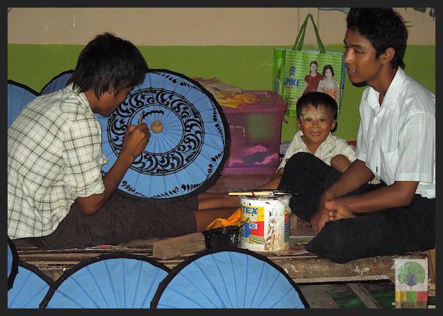 Burmese Bamboo Parasol Workshop - Pathein - Myanmar (Burma) 8