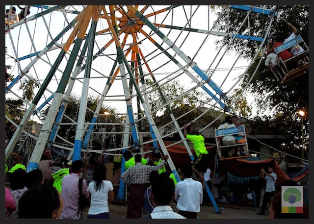 Big wheel funfair Karen new year festival at Insein Myanmar 3