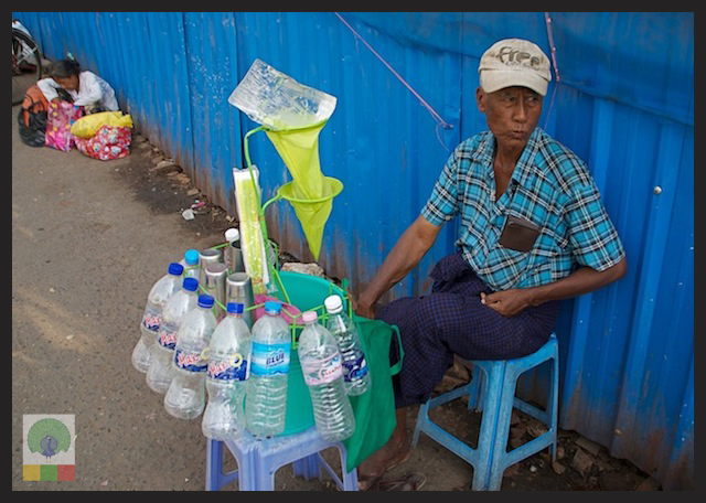 Drinking cold water in the streets of Myanmar 3