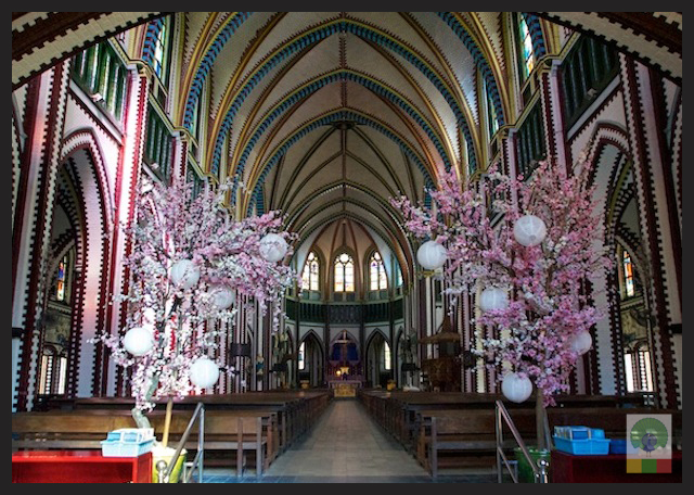 Saint Mary's Catholic Cathedral in Yangon - Myanmar