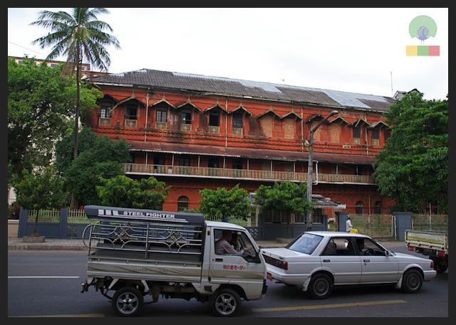 Former railway office - colonial building in Yangon - Myanmar (Burma) 5