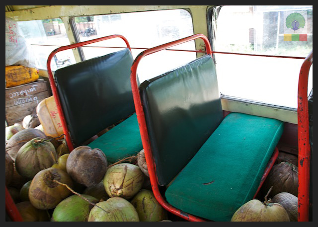 Local Bus Trip from Ngwe Saung Beach to Pathein - Myanmar (Burma) 4
