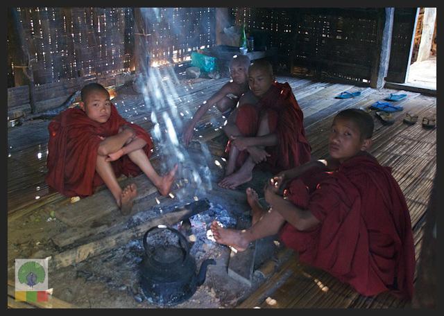 Novice Monks - Monastery - Inle Lake - Myanmar (Burma) 4