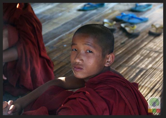 Novice Monks - Monastery - Inle Lake - Myanmar (Burma)