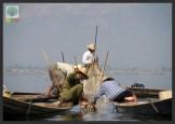 One leg paddling fisherman - Inle Lake - Myanmar (Burma) 10