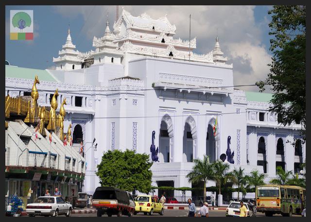 Yangon City Hall and Sule Pagoda - Myanmar (Burma)