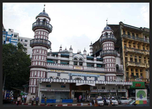Bengali Sunni Jameh Mosque view from Sule Paya - Yangon - Myanmar (Burma)