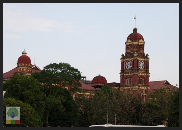 High Court Building - view from Sule Paya - Yangon - Myanmar (Burma)