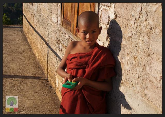 Smiles - Burmese Novice Monk in his monastery - Inle Lake - Myanmar (Burma)