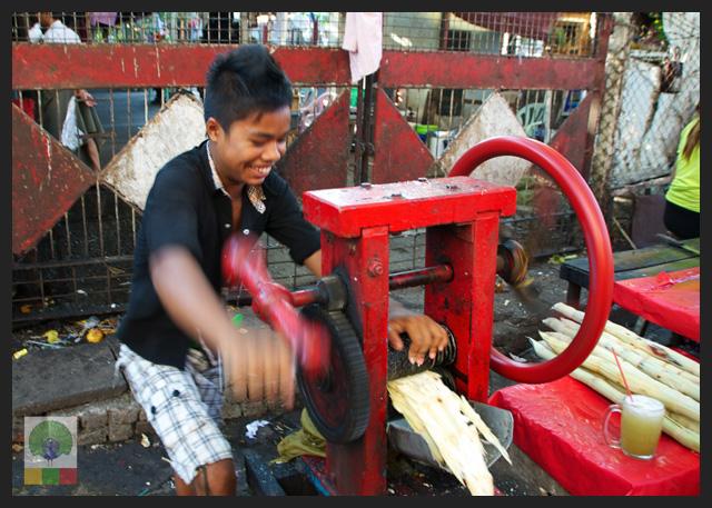 Smiles - Burmese boy preparing sugar cane juice - Yangon - Myanmar (Burma)