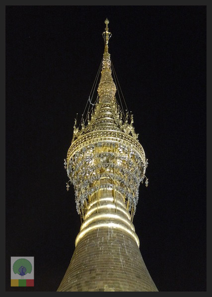 Shwedagon Pagoda by night - Yangon - Myanmar (Burma) 4