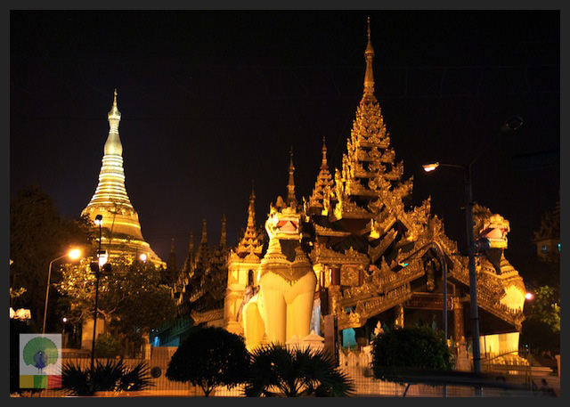 Shwedagon Pagoda by night - Yangon - Myanmar (Burma)