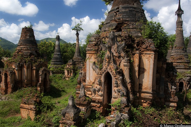Pagoda ruins at Sagar village near Inle Lake 2