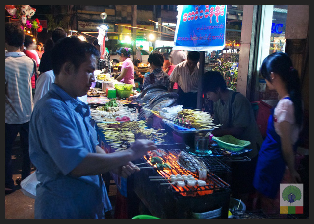 19 street barbecue - Delicious Myanmar