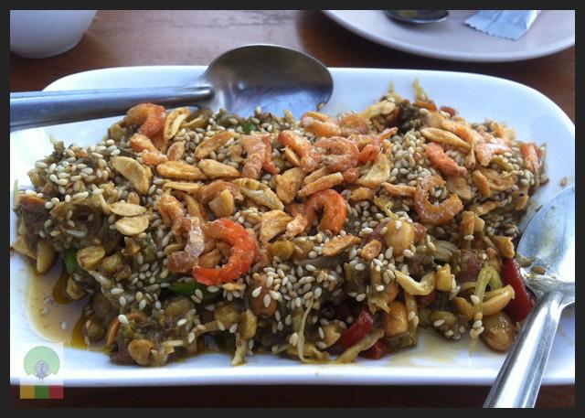 Tea leaf salad - Delicious Myanmar
