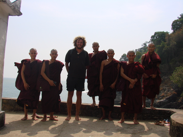 monks and andre - dawei - myanmar travelessentials