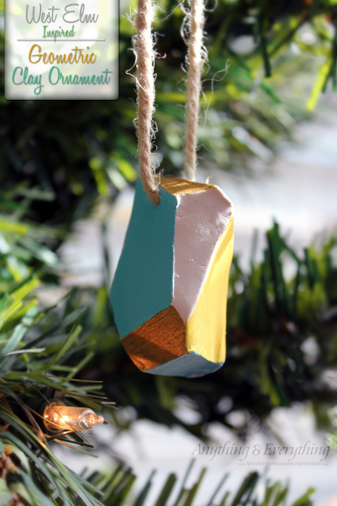 DIY Geometric Clay Ornament West Elm Inspired Amp 30
