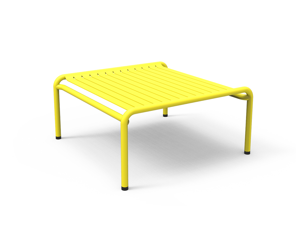 petite friture outdoor coffee table week end yellow expoxy varnished aluminium