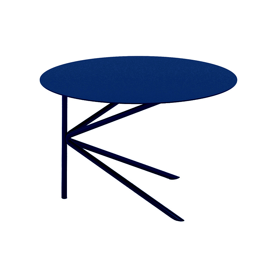 meme design table basse pour exterieur twin basso outdoor bleu marine metal