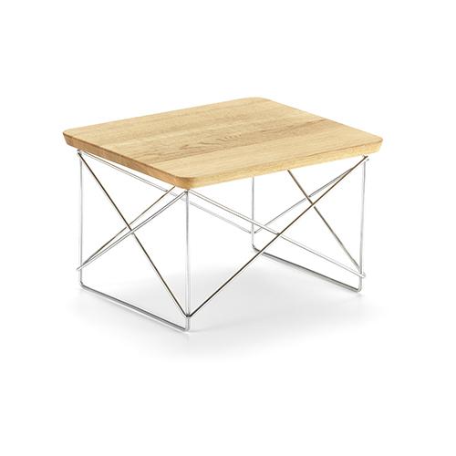 vitra table basse occasional table ltr chene naturel bois massif acier chrome