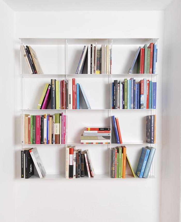 kriptonite bibliotheque murale krossing 100 x h 100 cm blanc opaque metal