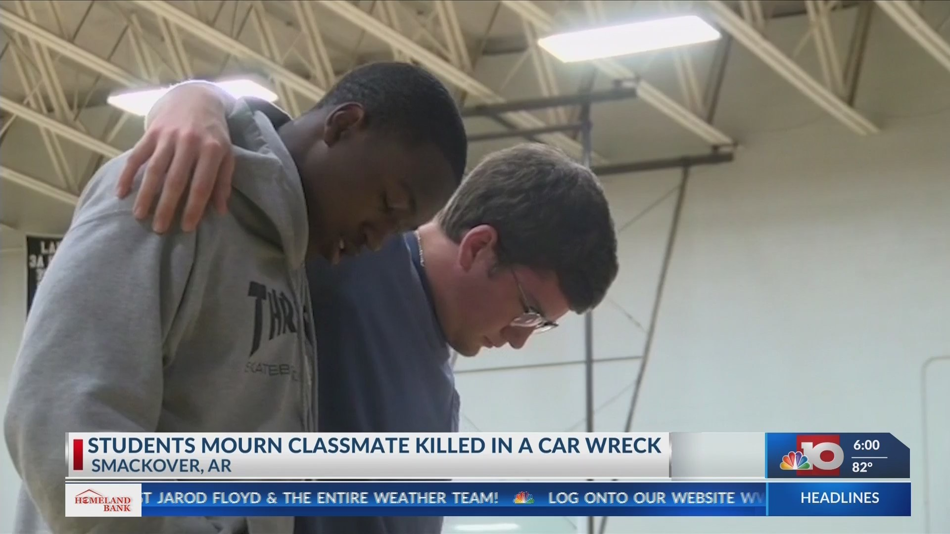 Students mourn the loss of a classmate killed in a vehicle accident