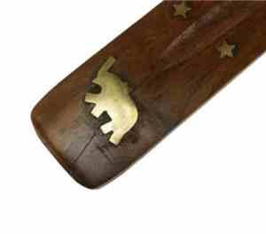 Räucherstäbchenhalter Holz Elefant