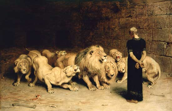 Briton Riviere - Daniel in the Lion's Den